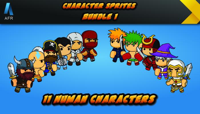 AFR Character Sprites – Bundle 1