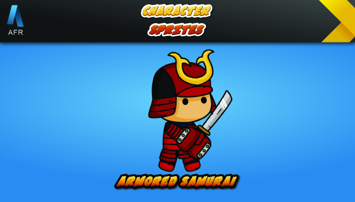 AFR Character Sprites – Armored Samurai