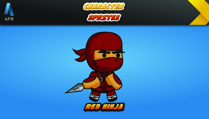 AFR Character Sprites – Red Ninja