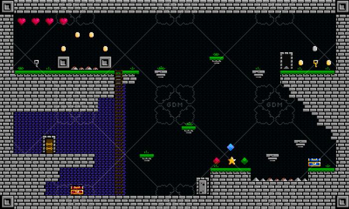 8Bit Dungeon Platformer Tileset