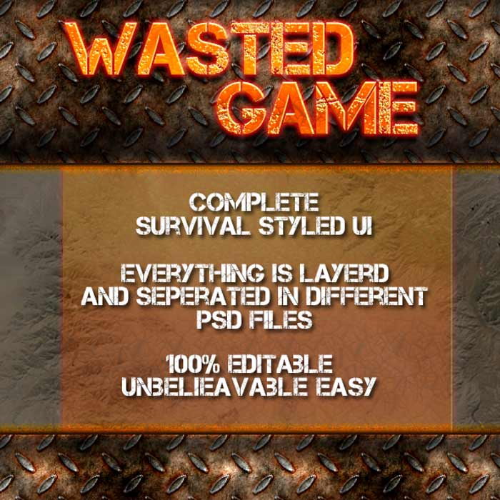 Wasted Game – Complete UI