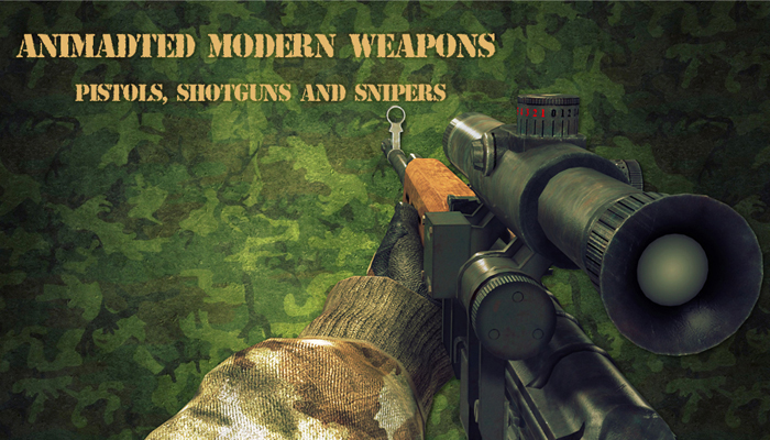 Animated Modern Weapons and Arms: Pistols, Shotguns,Snipers and SFX