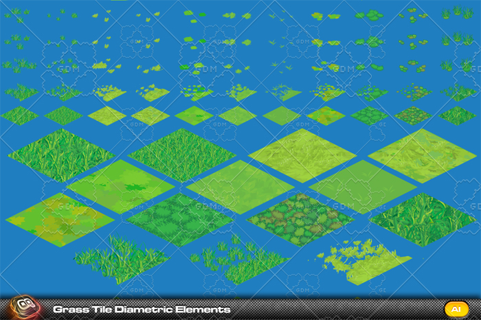 Grass Diametric Development Tiles v2