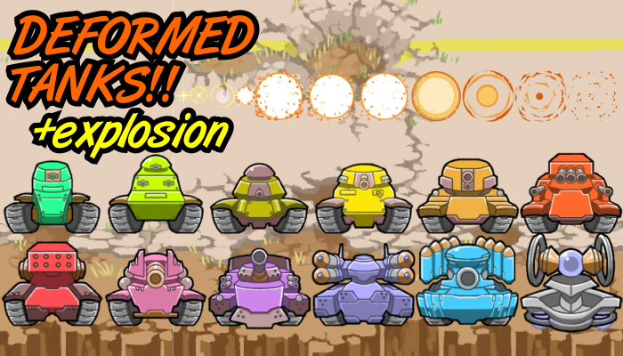 Deformed Tanks! bonus explosion sprite!