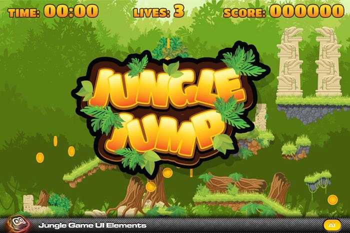 Jungle Jump Game elements