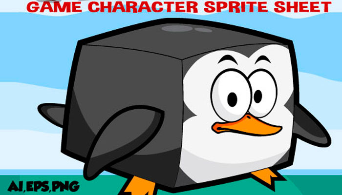 Rush Penguin Character Sprite