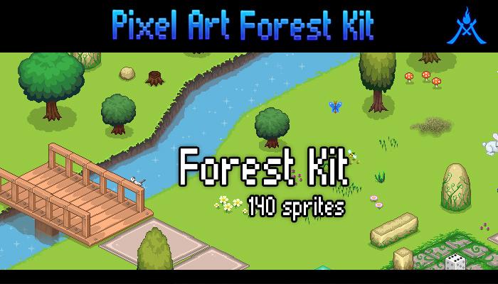 Pixel Art Forest Kit