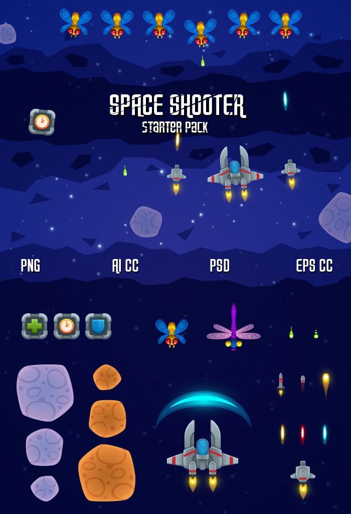 Space Shooter – Starter Pack