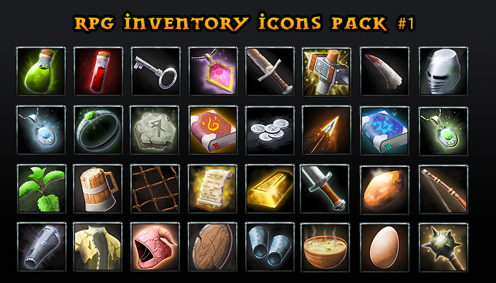 RPG Inventory Icons pack 1