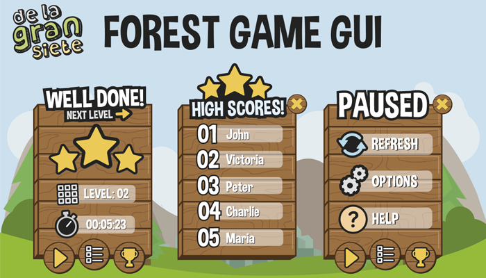 Forest Game GUI Vectors