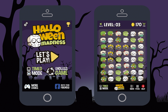 Halloween Madness Match 3 Game Asset