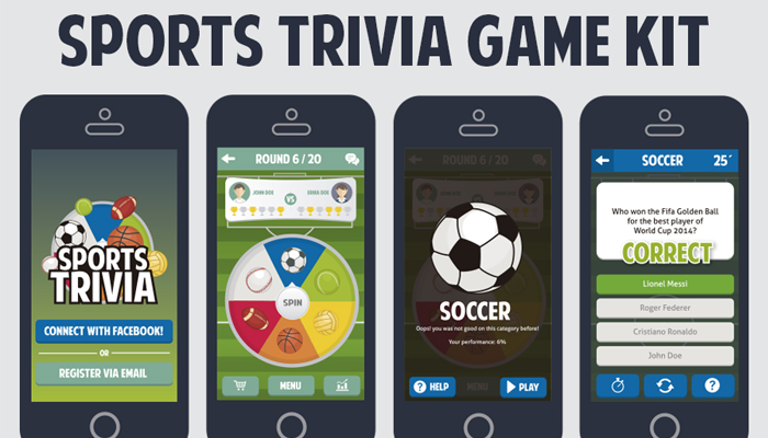 Sports Trivia Full Game Kit