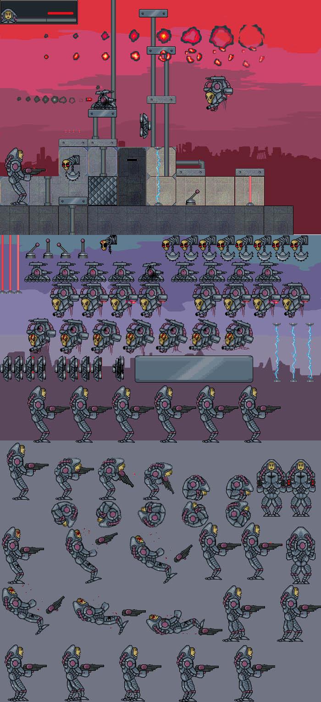 Shooter Cyborg Game Ser