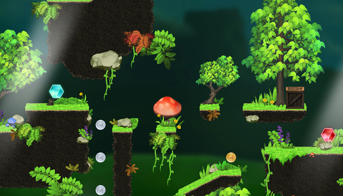Magic Forest – Platform Game Tileset