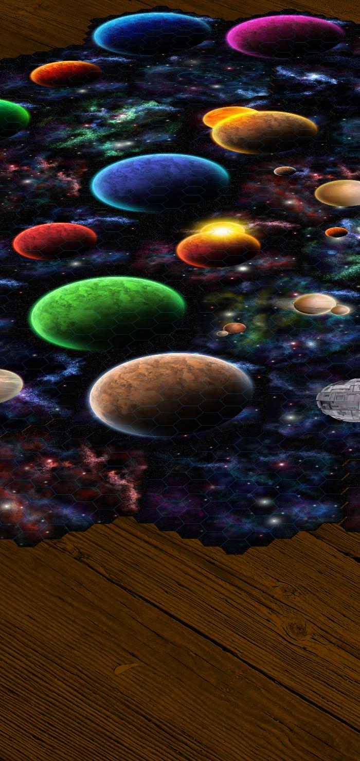 Space Environment Deep Space Hexagonal Tile Set vol1 and 2