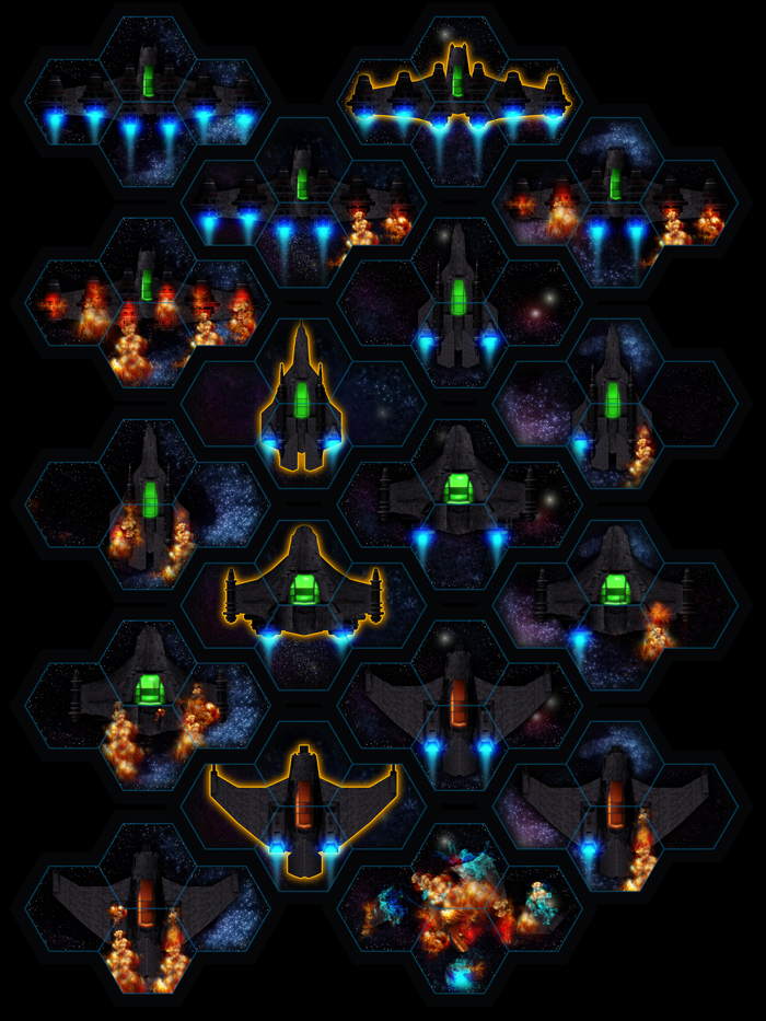 Space Environment Hexagonal Terran Void Fighter spaceship set