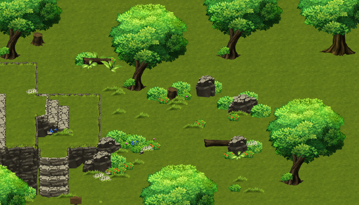 Top-Down Game Tileset 2: Forest