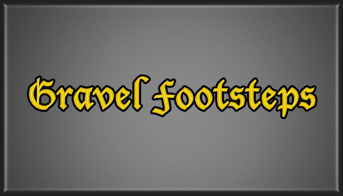 Gravel Footsteps Pack