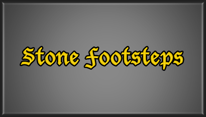 Stone Footsteps Pack