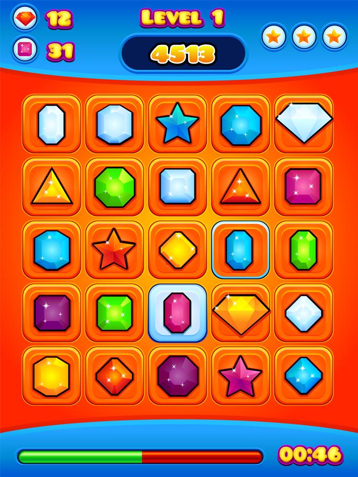 Jewel Game Layout