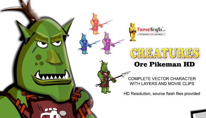 Orc Pikeman HD