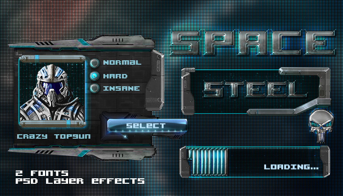 Space Steel GUI