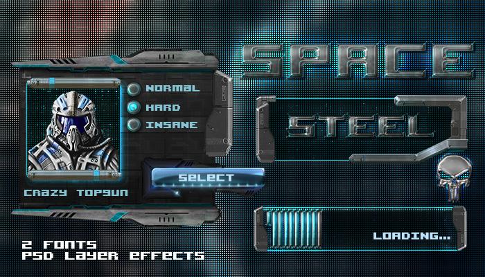 Space Steel GUI