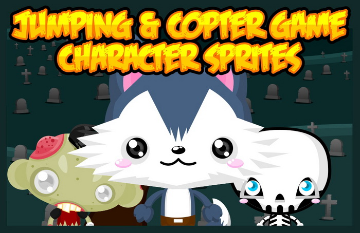 Jumping and Copters Game Sprites