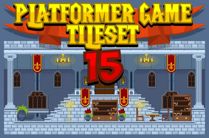 Platformer Game Tile Set 15
