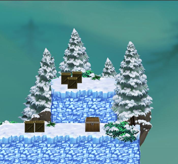 Snowy Monuntains – Platform Game Tileset