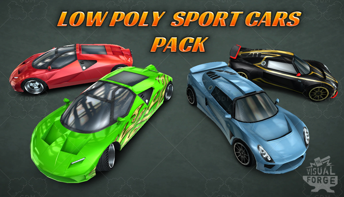 Low Poly Sport Car Pack