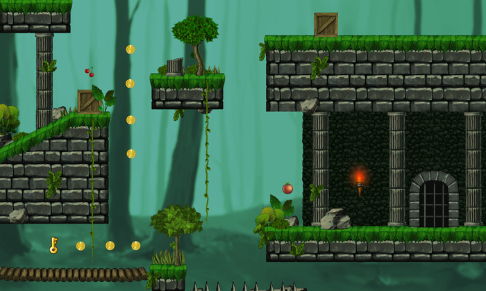 Abandoned Castle – Platform Game Tileset