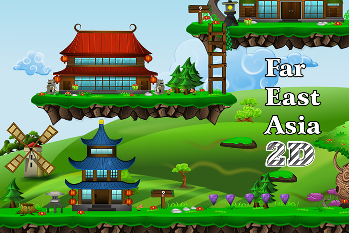 Far East 2D art pack