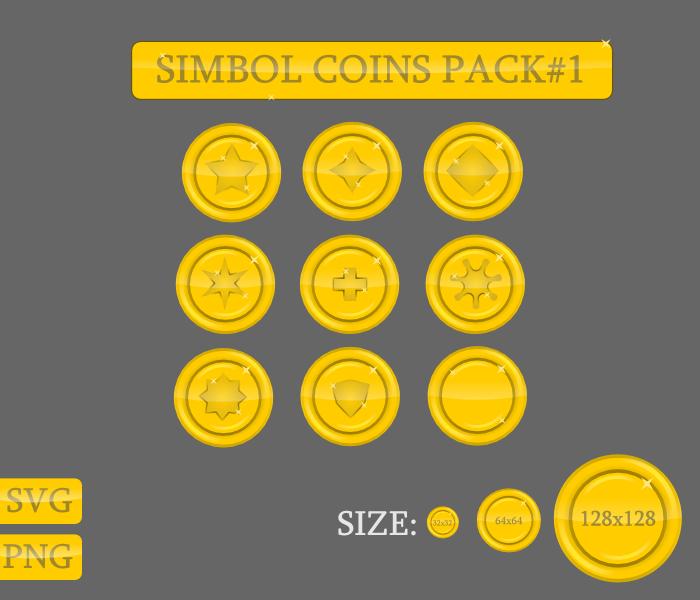 Symbol coins pack