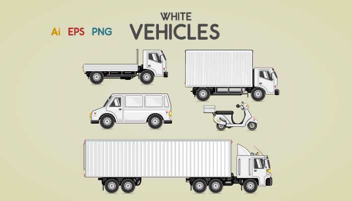 White vehicles