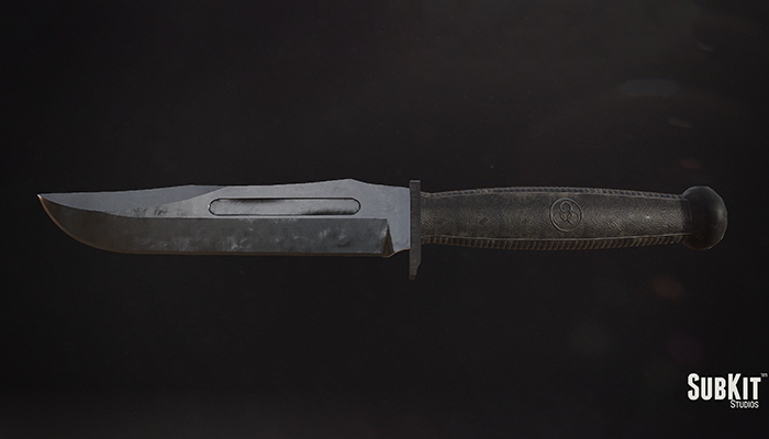 Battle Worn Military Knife