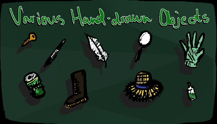 Various Hand-drawn Objects