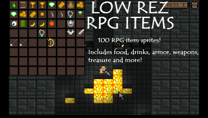 Low Rez RPG Item pack