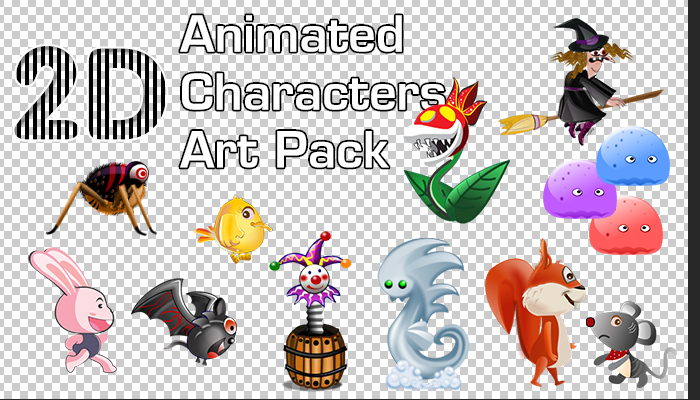 2D Animated Characters Pack