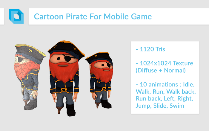 Super-Deformed Cartoon Pirate