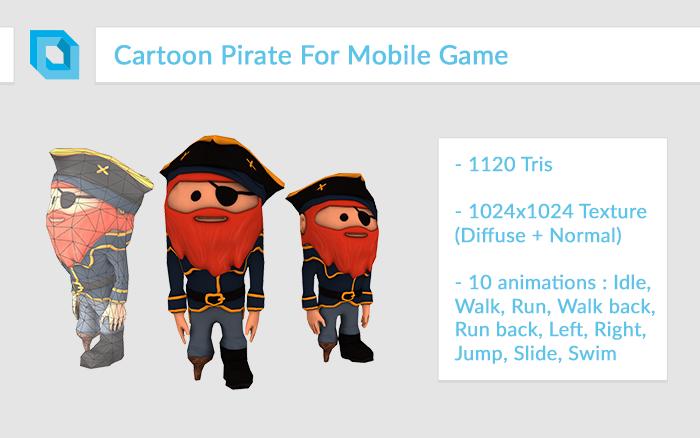 Super-Deformed Cartoon Pirate