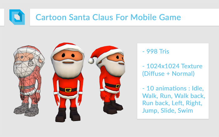 Super-Deformed Cartoon Santa Claus