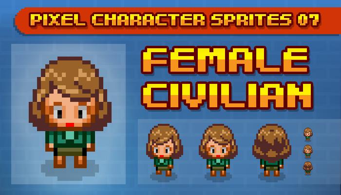 Toge Pixel Sprites – Female Civilian