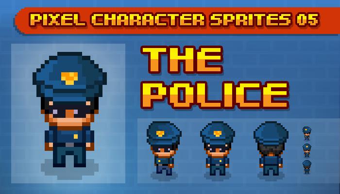Toge Pixel Sprites – Cops