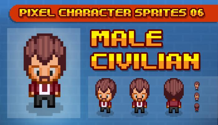 Toge Pixel Sprites – Male Civilian