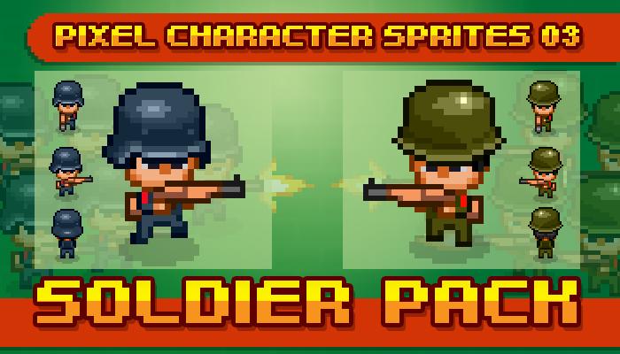 Toge Pixel Sprites – Soldier Pack
