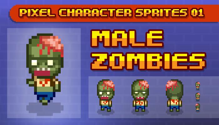 Toge Pixel Sprites – Male Zombie