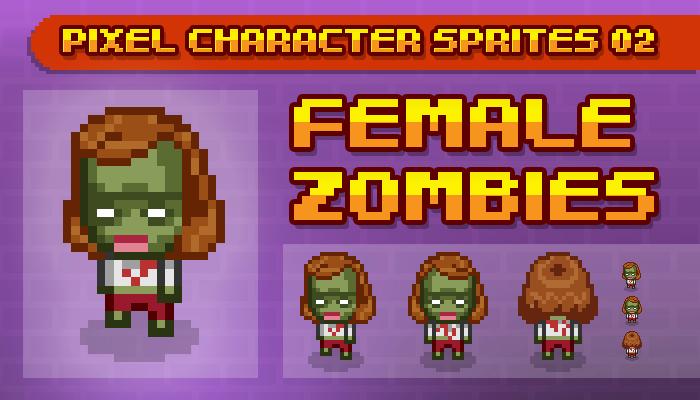 Toge Pixel Sprites – Female Zombie