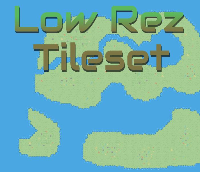 LowRez Terrain Tileset