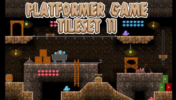 Platformer Game Tile Set 11